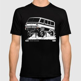 1969 GASSER VAN - Rev 2 BLACK T-shirt