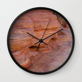 Colorful Sandstone, Valley of Fire - II Wall Clock