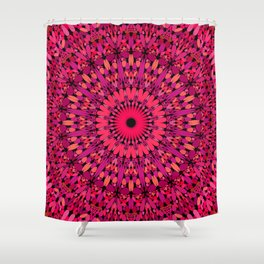 Petal Love Garden Mandala Shower Curtain