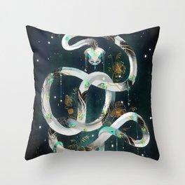The Rainbow Serpent Throw Pillow