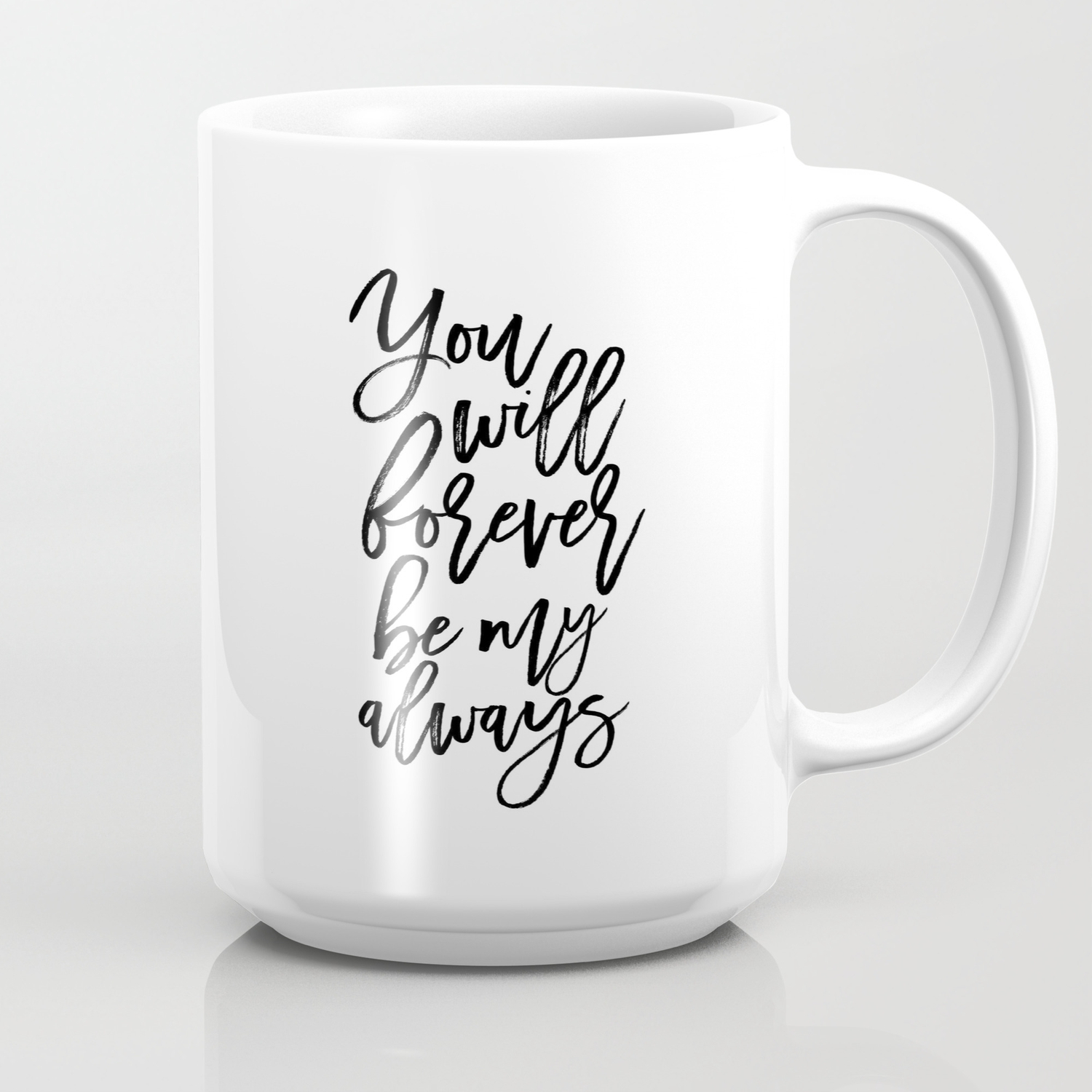 Anniversary Gift Gifts For Couple Women Gift Gift For Her Quotes Printable Art You Will Forever Coffee Mug By Typohouseart Society6