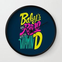 Baby's in Reno Wall Clock