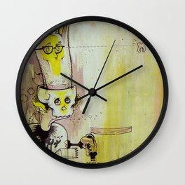 Deathy By Fresh Toast Wall Clock
