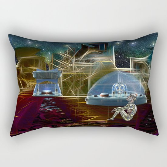 Do aliens get lonely as the lights begin to fade? Rectangular Pillow