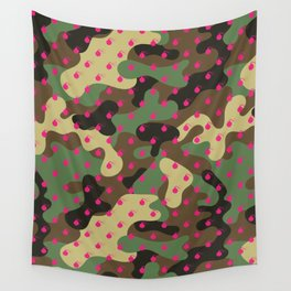 CAMO & HOT PINK BOMB DIGGITYS ALL OVER LARGE Wall Tapestry