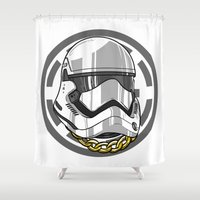 storm trooper Shower Curtains featuring Storm Trooper by KODYMASON