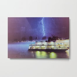 Thunderbolts in New Orleans Metal Print