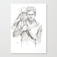 daryl Canvas Prints featuring Daryl by Eric Dockery