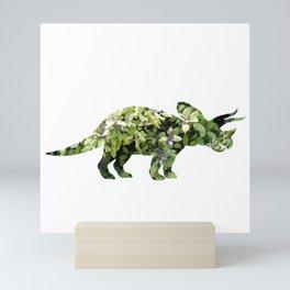 Triceratops Salvia Mini Art Print
