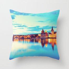 Prague at Twilight Throw Pillow