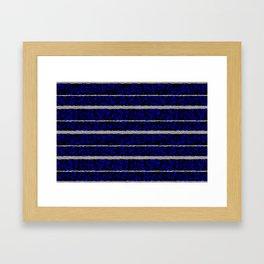 Silver Stripes with a Blue Plasma Background Framed Art Print