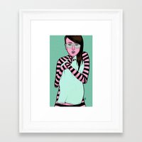 striped Framed Art Prints featuring Striped by Jim Towe