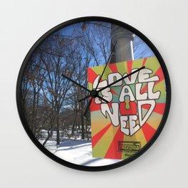 Central Park Snow Wall Clock