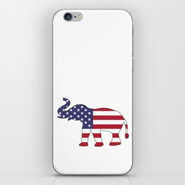 "Elephant ""American Flag"" iPhone Skin"