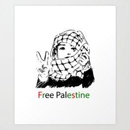 Freedom for Palestine Art Print