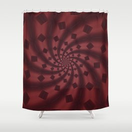 Tess Fractal in Rosewood Shower Curtain