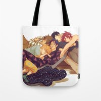 viria Tote Bags featuring free sleepovers by viria