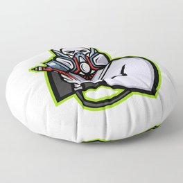Industrial Spray Painter Mascot Floor Pillow