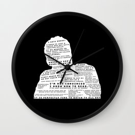 Nick Miller Quotes - black Wall Clock