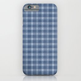 Denim Blue Plaid  iPhone Case