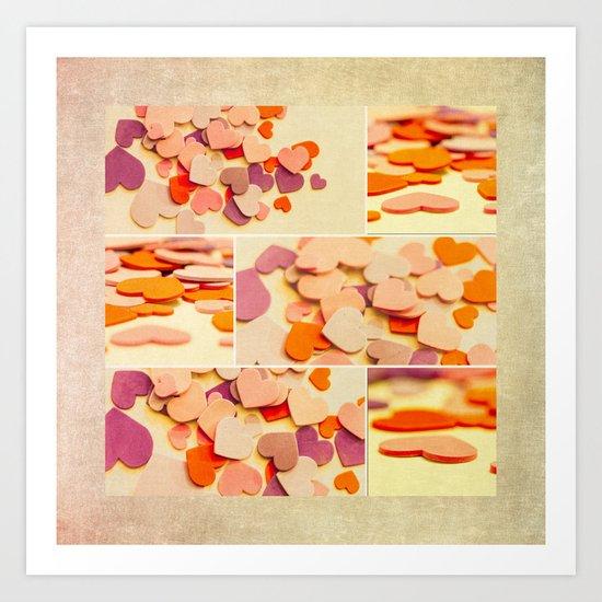 heart mosiac Art Print