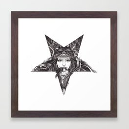 Lady of the Dark Star. Framed Art Print