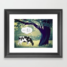 You Can't Take the Lab Out of the Cow Framed Art Print