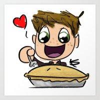pie Art Prints featuring PIE by SamKatDiz