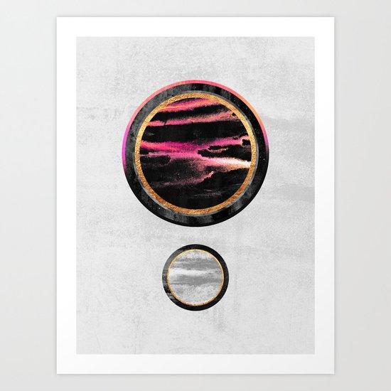 Circle Abstract #1 Art Print
