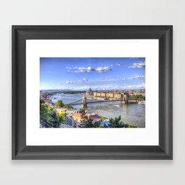 Budapest Cityscape Framed Art Print