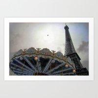 paris Art Prints featuring Paris by zenitt