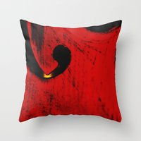 violin Throw Pillows featuring violin by laika in cosmos
