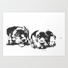 Rottweiler puppies Art Print