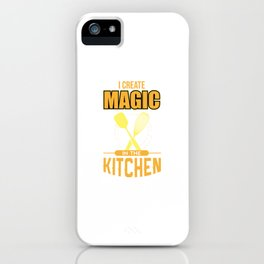 Chef Funny Cooking Utensils Magic In Kitchen Gift iPhone Case