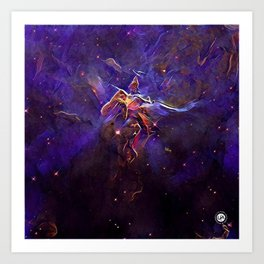 ALTERED Hubble 20th Anniversary Art Print