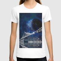 new york city T-shirts featuring New!! New York City by Simone Gatterwe