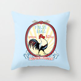Roosters crow Throw Pillow