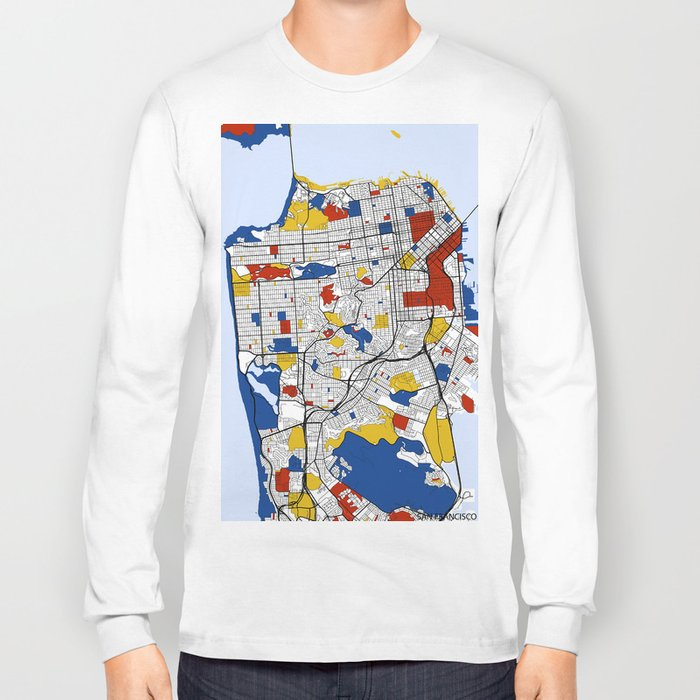 San Francisco Mondrian Long Sleeve T-shirt