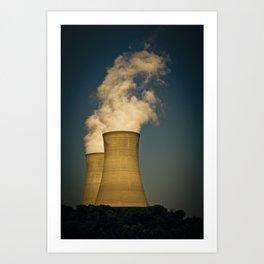 Toxic Towers Art Print