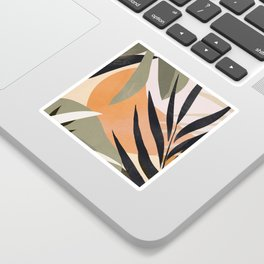 Abstract Art Tropical Leaves 2 Sticker