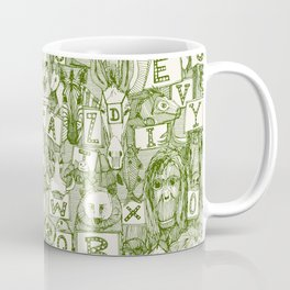 animal ABC green ivory Coffee Mug