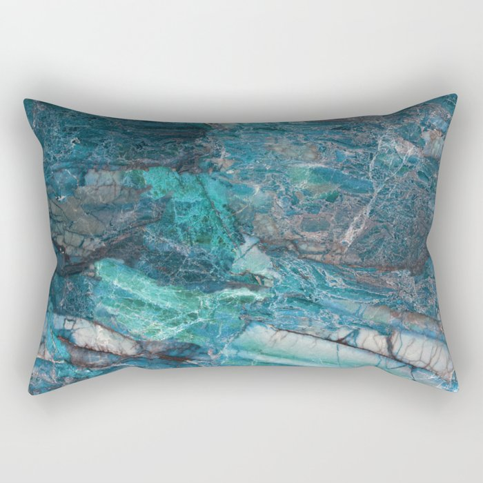 Siena turchese - blue marble Rectangular Pillow