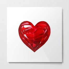 Garnet Heart Metal Print
