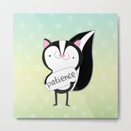 Skunk - Patience - Fruit of the Spirit Metal Print