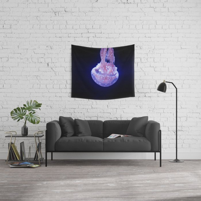 Sinking Jellyfish (Underwater Photography) Wall Tapestry