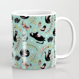 Folk Cats Coffee Mug