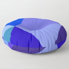 Prismatika Shades of Blue Floor Pillow