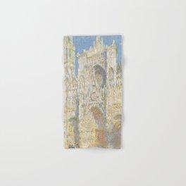 Rouen Cathedral, West Façade, Sunlight Hand & Bath Towel