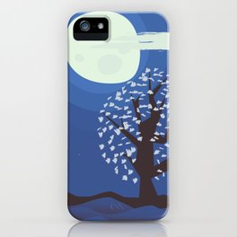 Tree in the moonlight iPhone Case