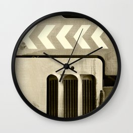 Road Roller Chevron 05 - Industrial Abstract Wall Clock